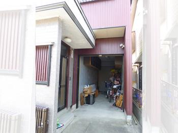 施工前の玄関廻り。