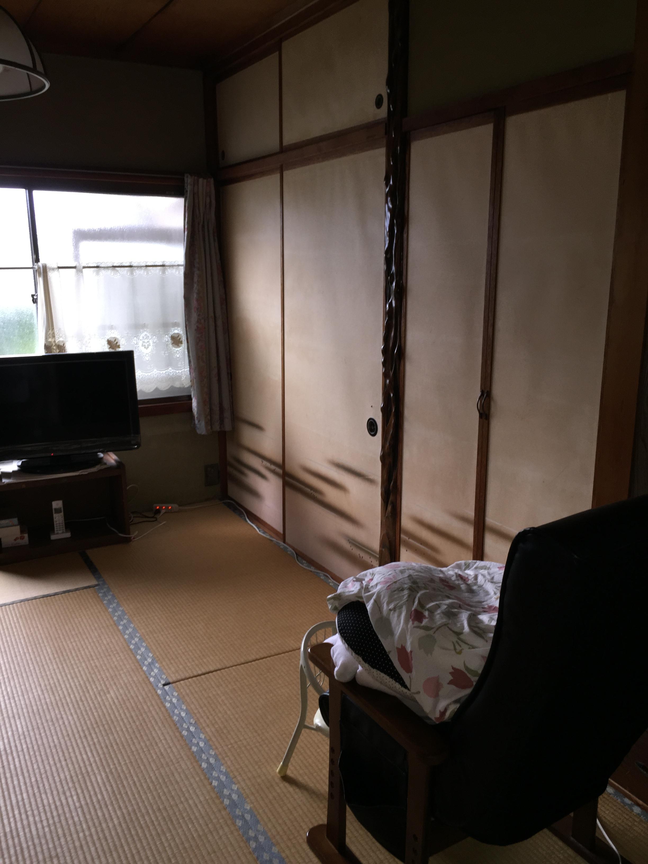 工事前の居室内