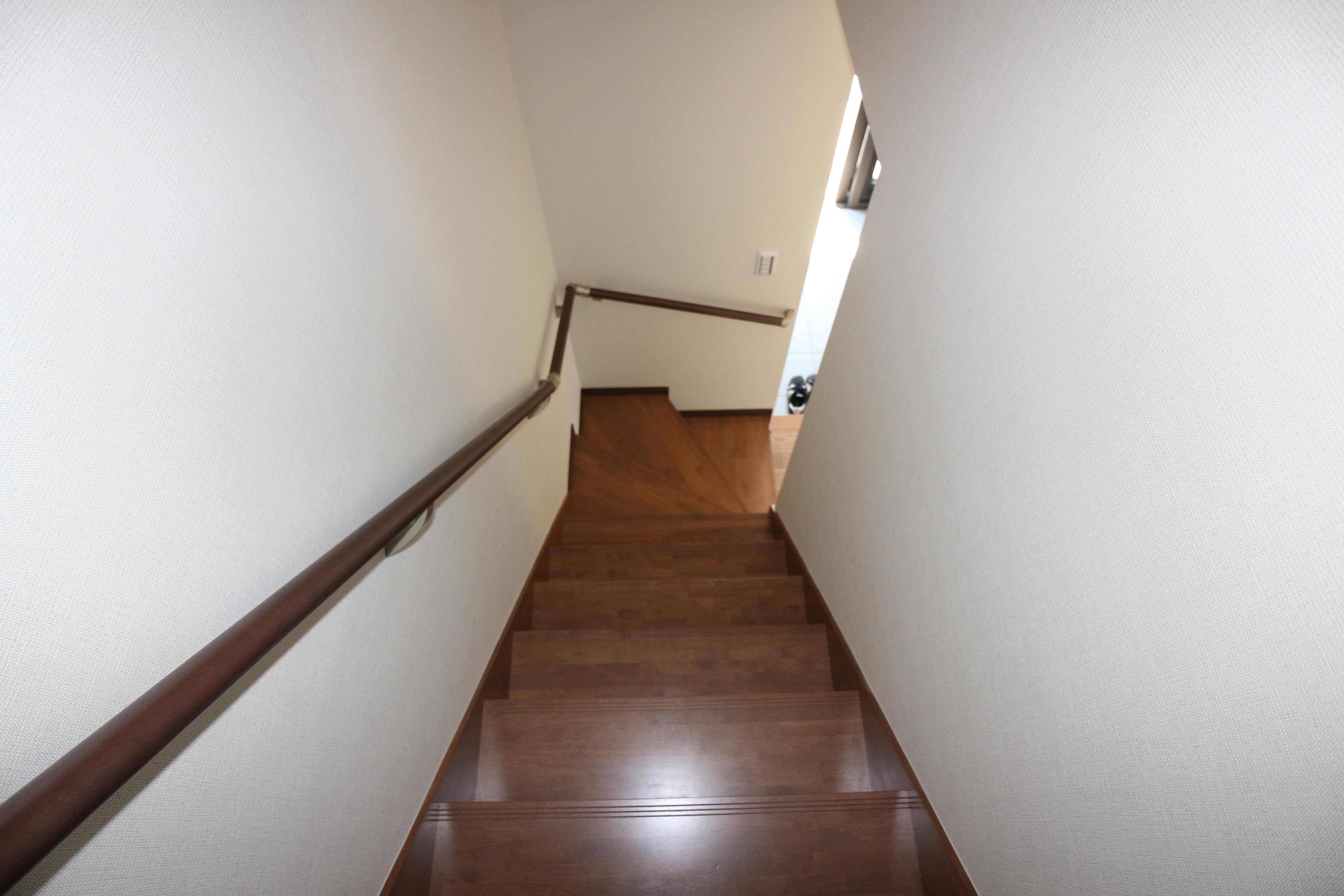 工事後の階段