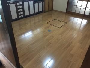 キッチン床工事(はり替え)