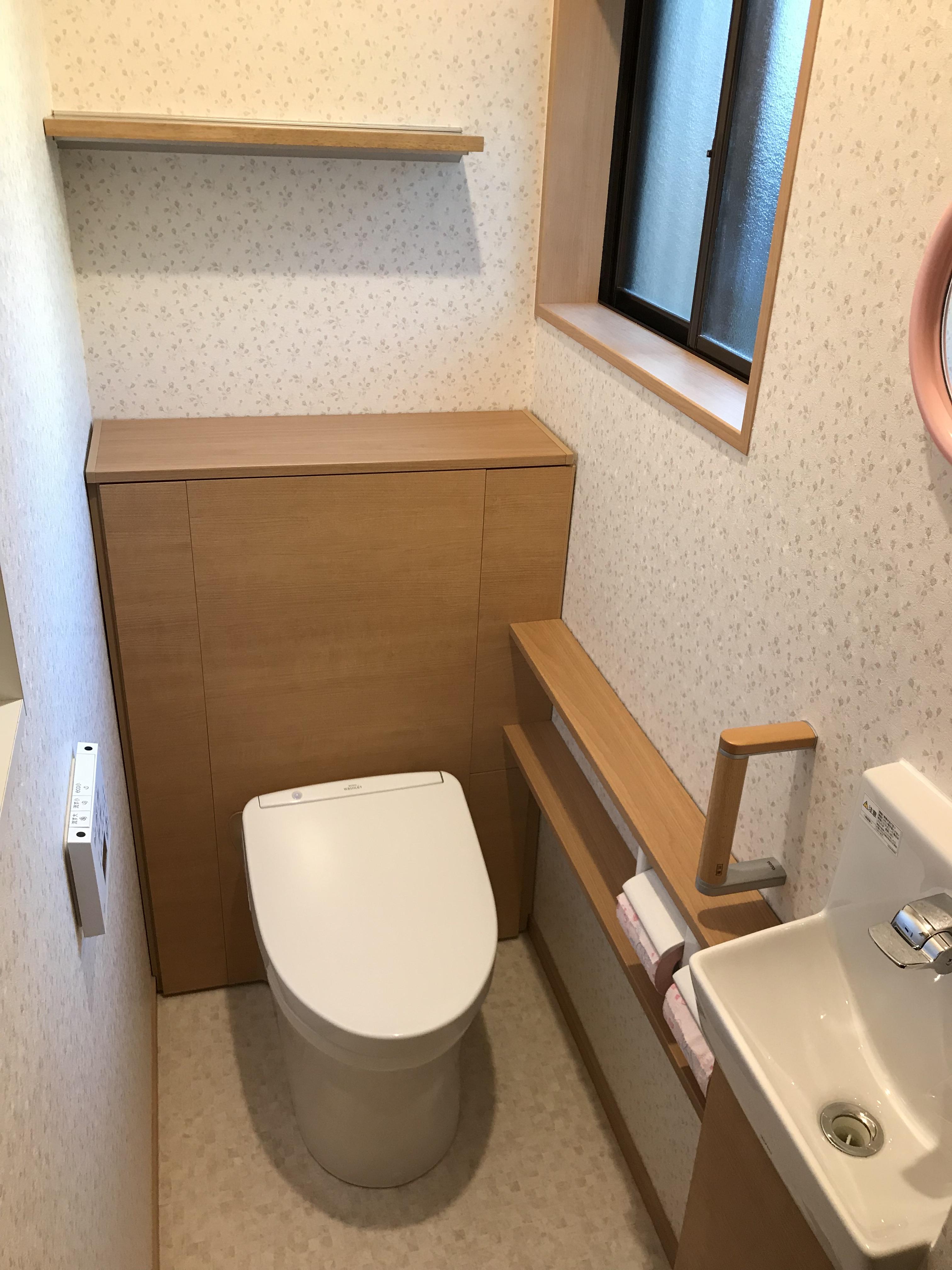 清掃性が高く収能力のあるトイレに