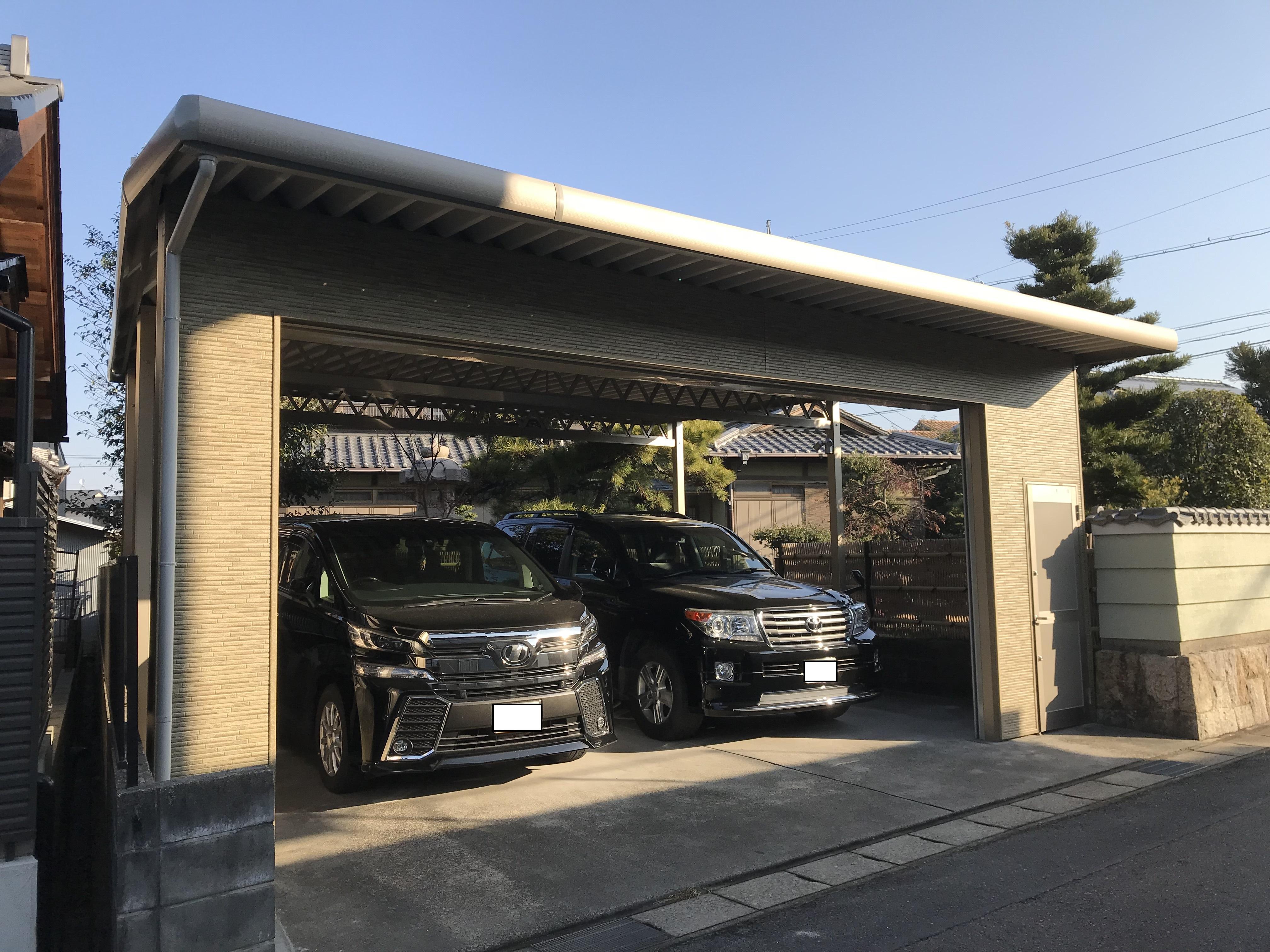 セキュリティ性の高い駐車場