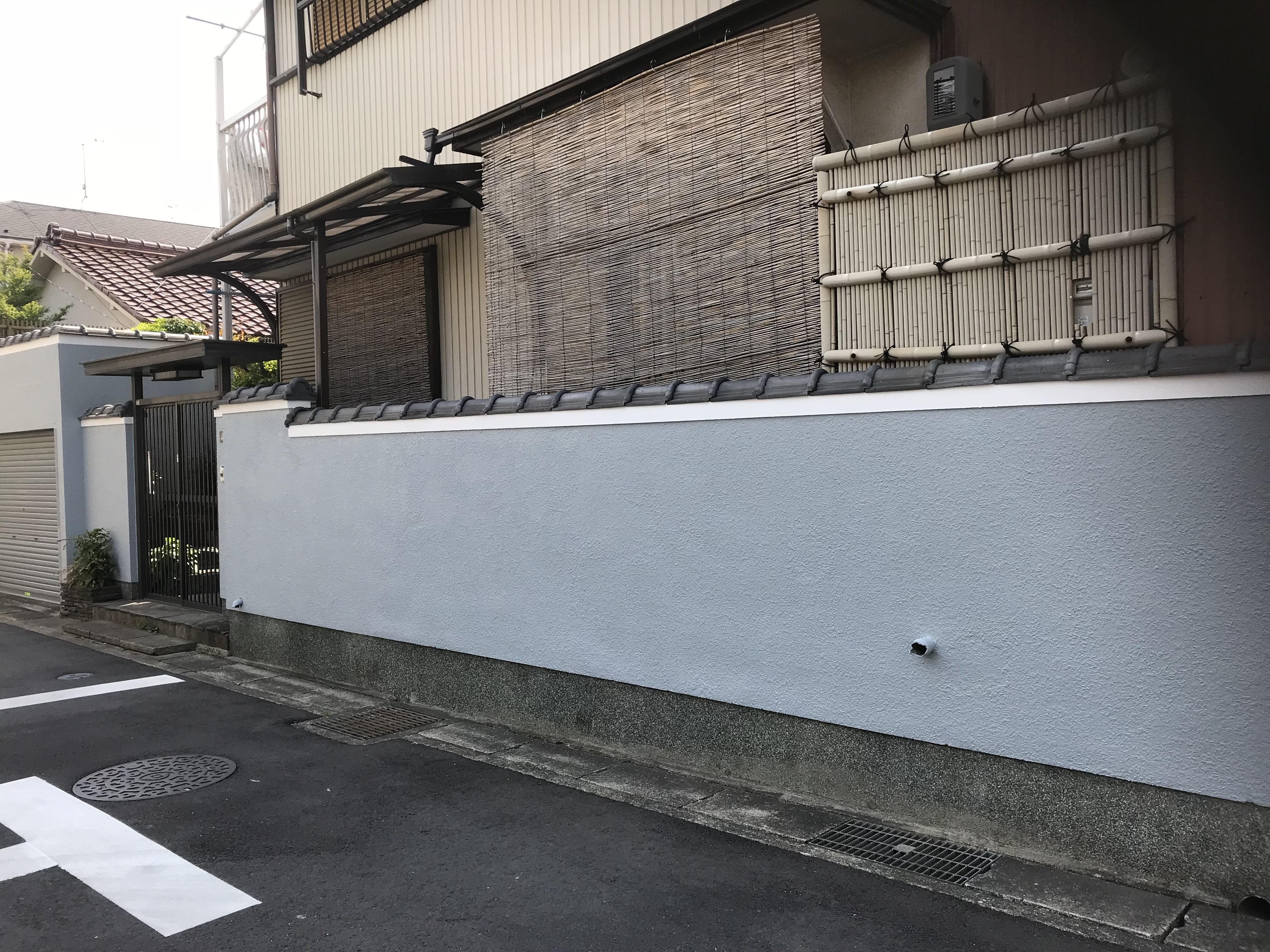 塀のリフレッシュ!